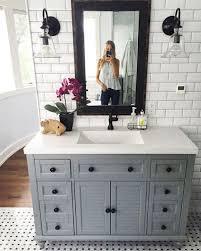 Grey Bathroom Vanity Design Ideas Stylish Small Master Bathroom Remodel Design Ideas 36 In