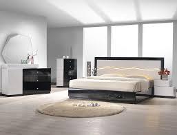 white modern bedroom furniture.  White Modern Platform Bed With LED Headboard On White Bedroom Furniture