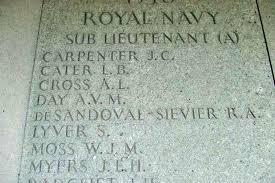 Battle of Britain London Monument - Sub/Lt.(FAA) J C CARPENTER