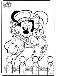 Piraat Mickey Inkleur Piraten Kleurplaten En Mickey Mouse