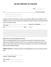 30 day eviction notice forms printable 30 day eviction notice pdf fill online printable