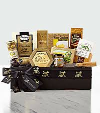 cheese and er gift basket the ftd clic gourmet salami and cheese box