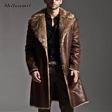 2019 whole mens black leather jacket faux fur coat long laather trench overcoat men vintage thick reversible pocket overcoat plus size 7xl from cacy