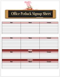 60 Best Potluck Signup Sheets For Free 5th One Will Amaze