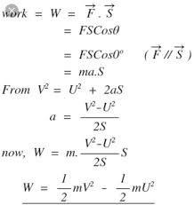 State And Prove Work Energy Theorem Brainly In