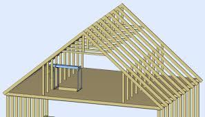 attic truss construction to enlarge