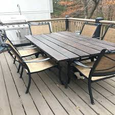metal and wood patio furniture. Contemporary Metal Metal And Wood Patio Furniture Ideas Outdoor Concept  Of Picnic Table Bench To And