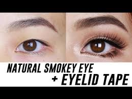 in this video i show you how to create a natural smokey eye makeup look for small asian eyes or monolids using double eyelid tape