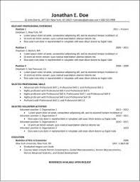 Typical Resume Format | Musiccityspiritsandcocktail.com