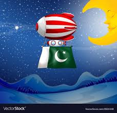 A Floating Balloon With The Flag Of Pakistan