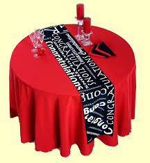 congratulations table runners in either white or black