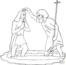 Johannes Doopt Jezus Kleurplaat Gratis Kleurplaten Printen