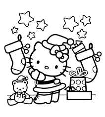 Small Picture Hello Kitty Coloring Pages Christmas Wallpapers9