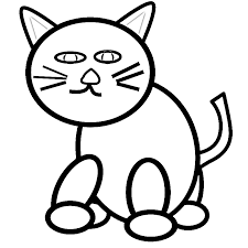 Small Picture Cat Face Coloring Page Hand Drawn Cat Face Sketch For Coloring