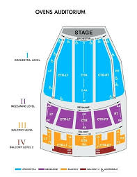 Ovens Auditorium Seats Mezzanine Seating Chart Detailed