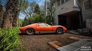 A 1967 Lamborghini Miura P400 is found in a barn