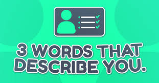 3 words that describe you 3 words that describe you miniquiz24