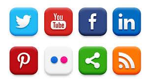 social media logos. social media logos