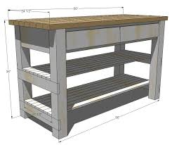 build your own kitchen island plans