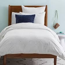 organic washed cotton duvet cover shams stone white kids bedding west elm