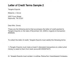 letter of credit terms sample 2 167 1