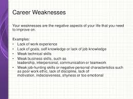 Fantastic List Weaknesses Job Interview Examples Ensign Resume