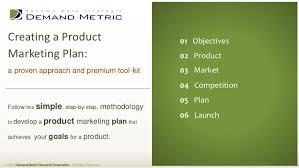 Product Marketing Plan Methodology Tool Kit