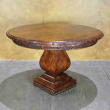 a freshly designed version of our round mesquite gitana table the