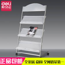 newspaper rack for office. Deli 9308 Newspaper Rack Magazine Floor News Stand Single-page Advertising Materials, Books For Office