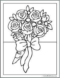 Simple Flower Coloring Pages Simple Flower Coloring Pages Adult