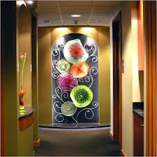 blown glass plates blown glass wall art plates
