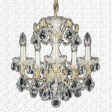 schonbek 1704 23 century 5 light crystal chandelier in etruscan gold with clear heritage crystal