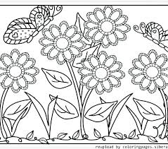 Spring Flowers Printable Coloring Pages Trustbanksurinamecom