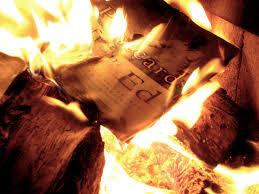 Image result for picture of a burning book