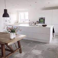 concrete tiles are a durable and cool option for any modern kitchen