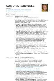 Public Relations Assistant Resume Samples Visualcv Resume Samples