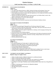 Database Engineering Resume Samples Velvet Jobs