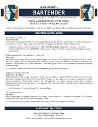 Resume For A Bartender Bartending Resumes 24 Bartender Resume Nardellidesign 17