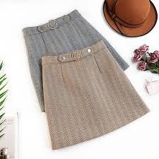 <b>AcFirst</b> Winter Gray Coffee Skirts <b>Women Fashion</b> A-Line Mini Skirt ...