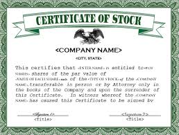 22 Stock Certificate Templates Word Psd Ai Publisher