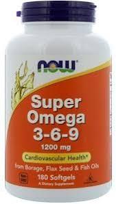 <b>Супер Омега</b>-<b>3-6-9</b>, 1600 мг, 180 капсул, NOW - купить по ...