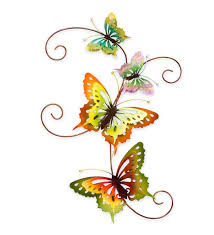 Outdoor wall art and decor are designed to withstand the elements. Metal Butterfly Wall Decor Visualhunt