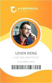 Id Card Template Business Free Psd