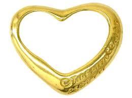 marque tiffany co open heart pendant