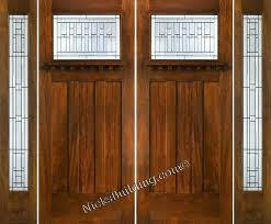 Craftsman Style Front Door With Sidelights Craftsman Door With