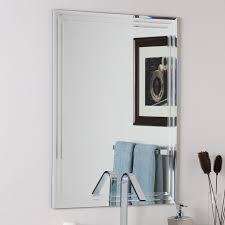 decor wonderland 23 6 in rectangular bathroom mirror
