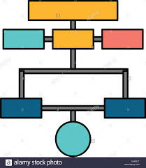 Org Chart Graphic Organization Chart Isolated Icon Vector Illustration Graphic