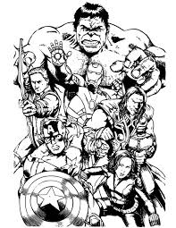 Small Picture The Avengers Team Assemble Coloring Page Download Print Online