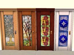 stained glass door stained glass doors with leaded panels unique inspiration throughout interior home and
