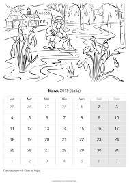 Calendario Marzo 2019 Da Stampare Italia